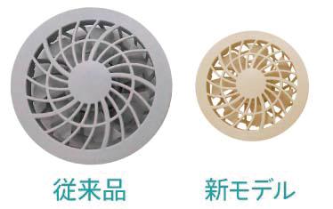 従来品と新モデルの比較画像